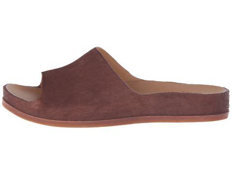 kork ease tutsi rust calf hair leather slip on sandal