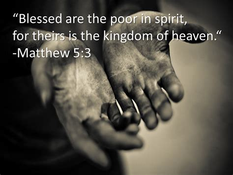 living by faith and humility quot the poor in spirit quot a