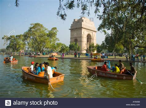 buy a boat india people on a boating lake by india gate in delhi in india