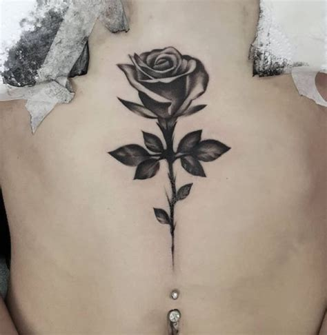 single rose tattoos designs best 25 black and grey ideas on