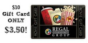 discounted regal cinemas gift card 10 gift card only 3 50