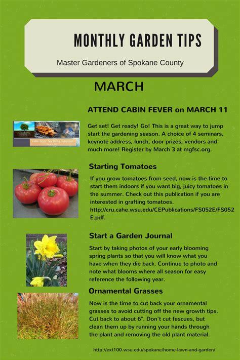 Gardening Advice Websites Monthly Gardening Tips Spokane County Washington State