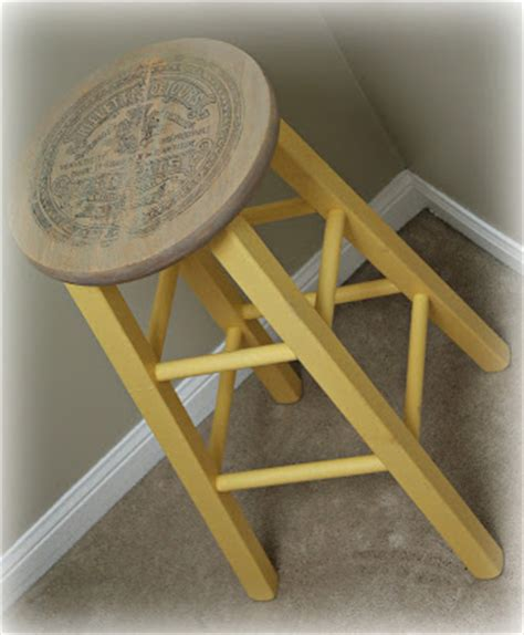 Light Yellow Stool by Pale Yellow Stool