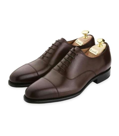 capped oxford shoe calf leather oxford shoes with toe cap and