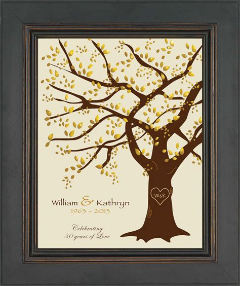 50th Wedding Anniversary Gift by 50th Wedding Anniversary Gift Print Parents Anniversary Gift