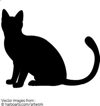 cat silhouette template cat with silhouette vector graphic