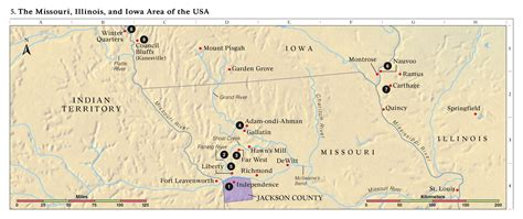 lds maps illinois smaller cities towns and villages between 1000