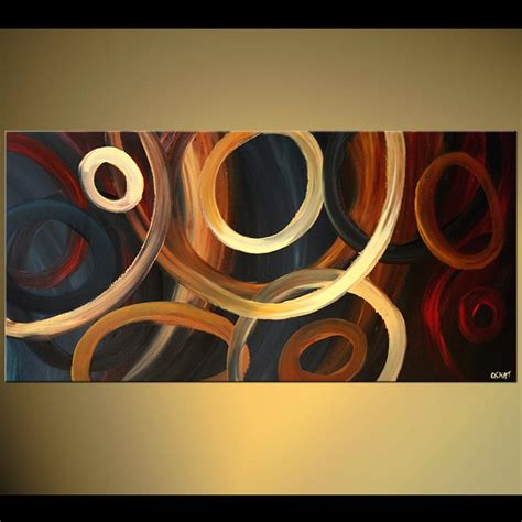 abstract paintings with circles abstract painting going in circles even more