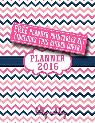 free printable binder planner 2016 make it create by lillyashley freebie downloads free