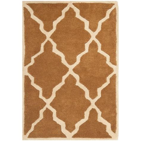 3 foot area rugs safavieh chatham brown 2 ft x 3 ft area rug cht940c 2 the home depot