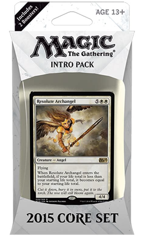 Magic The Gathering White Starter Deck by Magic 2015 Intro Pack Decklists Magic The Gathering