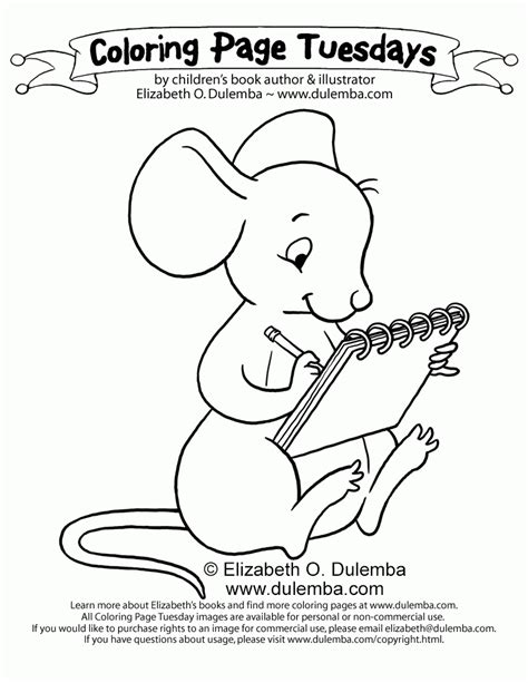 dulemba coloring page tuesday studying mouse dulemba coloring page tuesday drawing mouse az