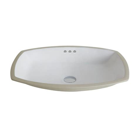 rectangular undermount sink bathroom kraus elavo flared rectangular ceramic undermount bathroom
