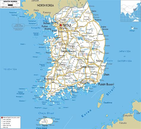 map of korea detailed clear large road map of south korea ezilon maps