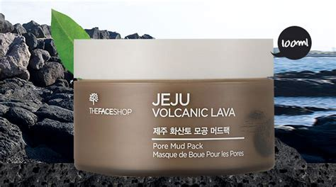 Jual The Shop Jeju Volcanic Lava the shop jeju volcanic lava pore mud pack 100ml