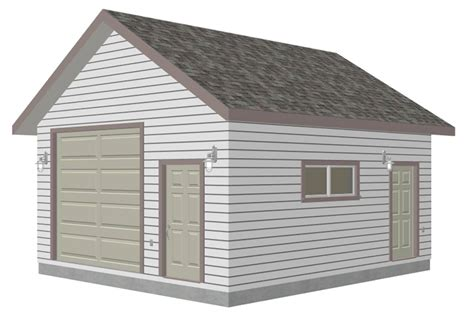 garage workshop plans g447a 18 x 20 x 10 8 12 pitch free pdf garage plans