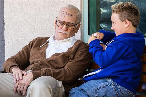 up film grandpa brain challenged bad grandpa shockingly dull new york post