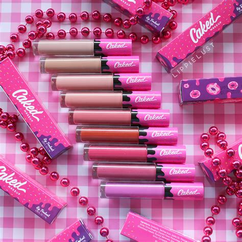 Crusial Olshop 10 swatched caked cosmetics lip fondant review lippielust