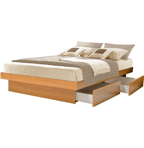 Bed With Drawers King Platform Bed With 4 Drawers Contempo Space