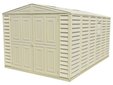 Sheds On Sale Free Shipping by Duramax 01016 10 5x15 5 Vinyl Garage Shed On Sale With