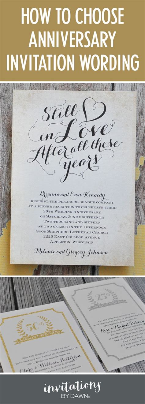 wedding anniversary invitation wording ideas finding the right wedding anniversary invitation wording