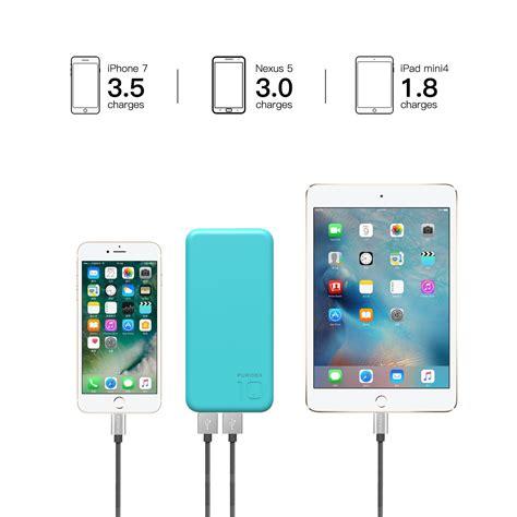 puridea  blue mah  output portable battery