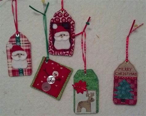 Fabric Tags For Handmade Gifts - fabric gift tags