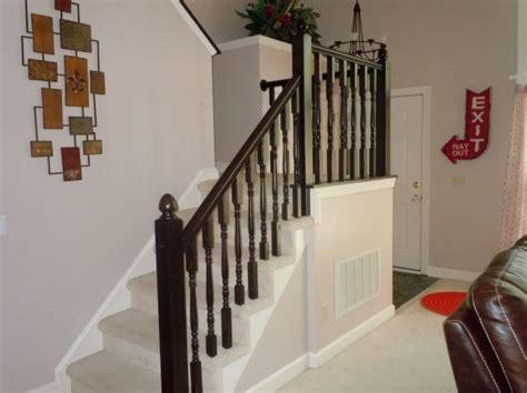 Staining Oak Stair Railings Remodelaholic Diy Stair Banister Makeover Using Gel Stain