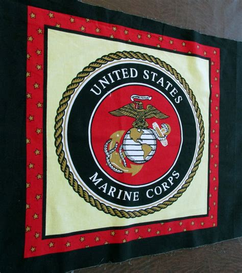 Marine Corps Fabric Quilting by 2 Set Of United States Marine Corps Fabric Pillow Panels