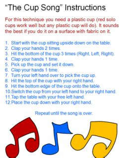 cups song testo the cup song