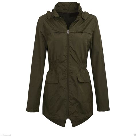 light waterproof jacket ladies new womens hooded mac lightweight showerproof plus size