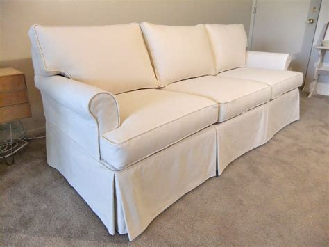 canvas sofa slipcovers natural canvas slipcover for ethan allen sofa the