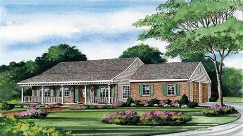 One Story House Plans With Porch One Story House Plans With Wrap Around Porch Country