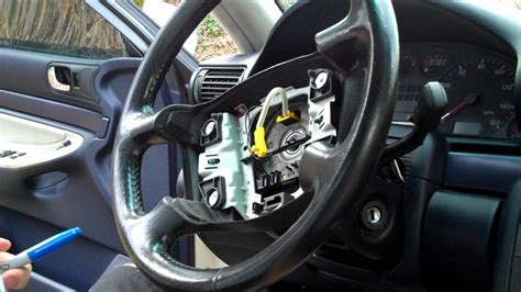 airbag deployment 1997 audi a6 engine control audi steering wheel removal youtube