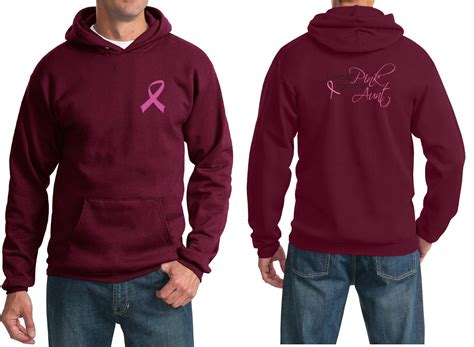 Rsby 494 Hodie Jacket Pink Print mens hoodie pink ribbon pink for my front back