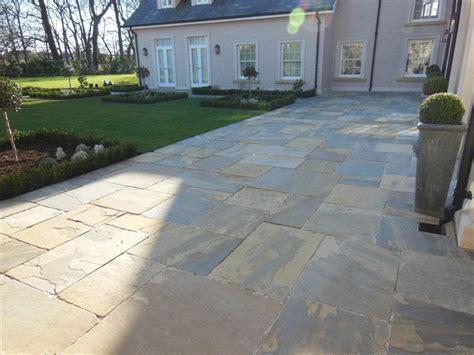 Patio Pavers Northern Ireland Riven Yorkstone Paving Beth Garden Design Ced