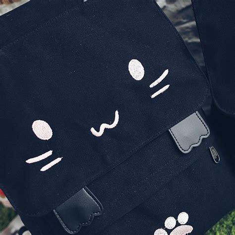 Tas Backpack Cat Black tas ransel wanita model cat black white