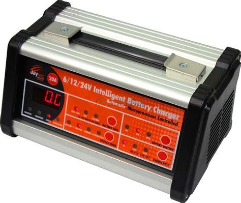battery charger for agm 12 volt jaylec 6v 12v 24v 6 12 24 volt 20a smart battery