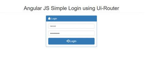 javascript tutorial login page angular js simple login using ui router free source code