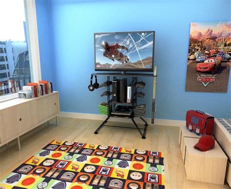 gaming stands bedroom amazon com atlantic black centipede game storage and 37