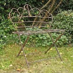banc bucolique en fer forg 233 mobilier de jardin