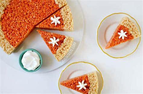 treat recipes pumpkin just a taste pumpkin pie rice krispies treats