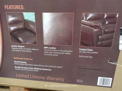 costco simon li leonardo sofa simon li leonardo leather loveseat