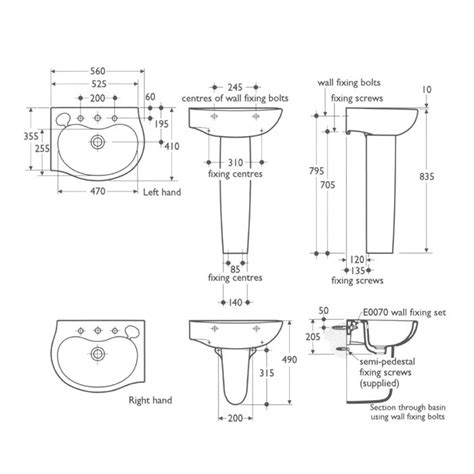 Pedestal Sink Sizes Befon For Bathroom Sink Dimensions