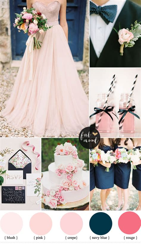 pink and blue wedding colors blush pink and navy blue wedding inspiration