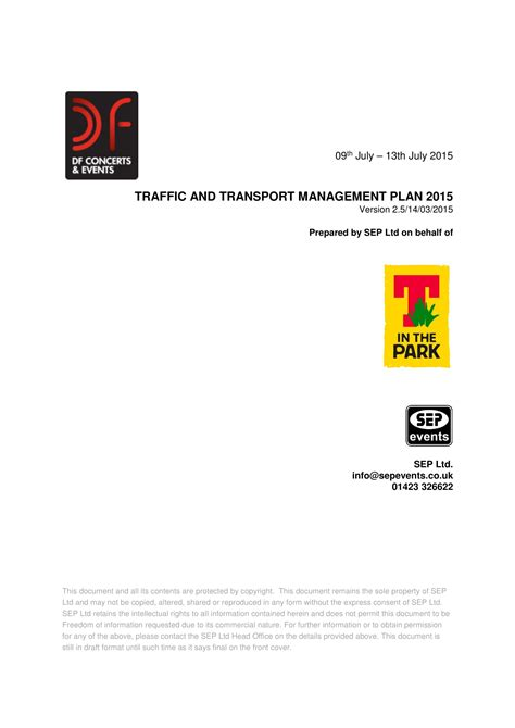 transport management plan template special event transport management plan template best