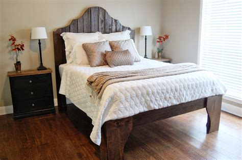 fence post headboard remodelaholic curvy reclaimed wood headboard tutorial