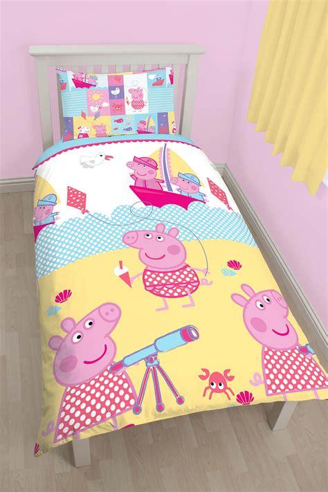 Peppa Pig Bed Set Duvet New Peppa Pig Nautical Single Duvet Quilt Cover Bedding Set Childrens Bedroom Ebay