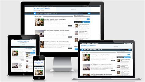 blogger lab full width version responsive template