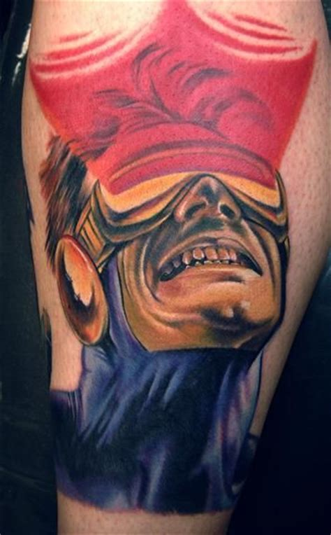cyclops tattoo cyclops the leader of the looks pretty badass in